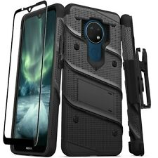 Nokia C5 Endi Bolt Series Hybrid Case with Tempered Glass, Kickstand and Holster