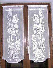 Rideaux brise-vue au crochet motifs fleurs fait main neufs Création textile.