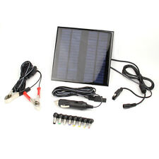18V 2W Solar Panel Portable Power Battery Charger with usb for Car Boat Notebook