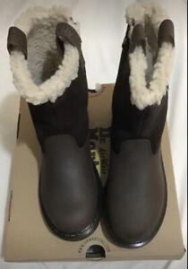 Brown Fur Lined Size 4 Dr Martens Juney Biker Fur Lined Warm Wair...BNIB