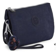 Kipling Creativity Extra Large Cosmetic Pouch Wallet Clutch True Blue Retail $39