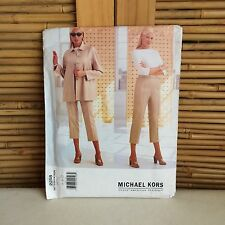 Vogue 'MICHAEL KORS' #2258 Jacket & ANKLE Length PANTS Sewing PATTERN 18-20-22