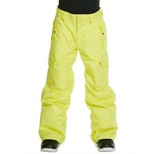 Boys' Small (10) QUIKSILVER Porter Insulated Pants Ski Snow Pants YELLOW - NWT