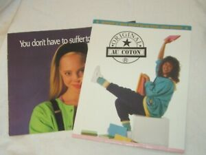 Vintage Spring/Summer 1989 Original Au Coton Catalog & School Locker Calendar