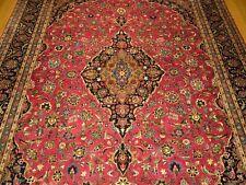 10 x 13 Handmade High Quality Antique 1940s Persian Isfahan Rug _Soft Kork Wool