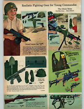 1965 PAPER AD 2 Pg Toy Army Johnny Seven Gung Ho Grenade Lancher Combat Phones