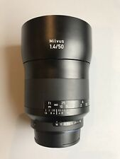 Zeiss Milvus f1.4 50mm ZF.2 Nikon Fit. With Caps And Hood. DSLR Prime Lens.