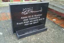 Engraved memorial plaque stone headstone grave personalised stone black