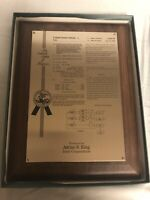 "1996 INTEL CORPORATE Patent Wall Plaque Presentation Wood/ Metal Rare 9x 12"""