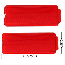 2 Front or Rear Door Red Reflectors for 99-07 Ford SuperDuty F250 F350 F450 F550