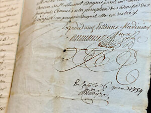 ANTIQUE MARRIAGE CONTRACT 1743   8 pages