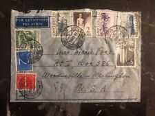 1912 Rotterdam Holland Air Letter Cover To Washington USA
