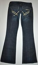 William Rast Savoy Distressed Ultra Low-Rise Trouser Jeans Size 25 X 33 3/4 Long