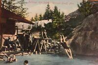 Postcard, Bathing, Hot Sulphur Springs Banff Alberta, Canada, Vintage V01