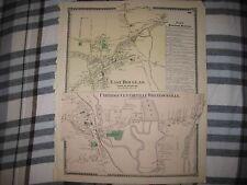 Antique East Douglas Uxbridge Wheelockville Massachusetts Handcolored Map Rare