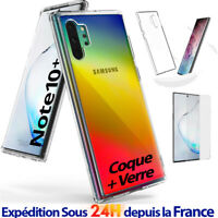 Samsung Galaxy Note 10 Plus / Coque Silicone Gel Bumper Cover TPU + Verre Trempé