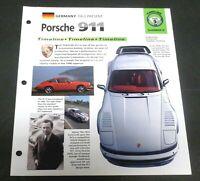 HOT CARS GERMANY 1963-PRESENT PORSCHE 911 IMP SPEC SHEET FOLD OUT TIMELINE GRP 8