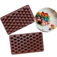 55 Grids Coffee Bean Silicone Mould Cake Chocolate Jelly Candy Soap Baking Mold