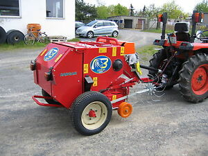 Mini Rundballenpresse Heupresse Strohpresse Bargam RRX-60 SUPER ehemals Wolagri