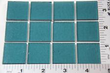 "1444.30 SEA BLUE 12 PIECES 1"" x 1"" 3mm BULLSEYE GLASS 90 COE"