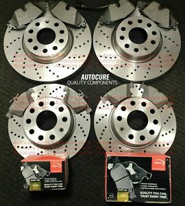 FOR VAUXHALL INSIGNIA FRONT AND REAR DRILLED BRAKE DISCS & PADS
