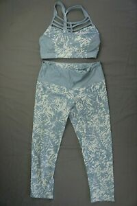 PrAna Set Pillar Printed Athletic Capri Pants And Riestling Bra Women's Size XS