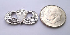 Us Army Paratrooper Wings (Small Mini) Silver Military Hat Pin 15570 Ho