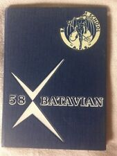 1958 THE BATAVIAN JUNIOR - SENIOR HIGH SCHOOL YEARBOOK  BATAVIA NY