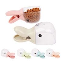 Cn _ Duckbilled Mascota Perro Gato Alimento Comedero Pala Cereal Sellado Clip