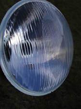 """new 8"""" HEADLIGHT BEAM UNIT catseye domed glass MILLER style+2 holders+12v bulb"""