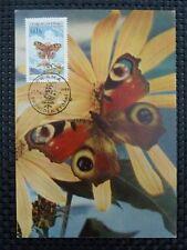 CSSR MK 1961 FAUNA SCHMETTERLINGE BUTTERFLIES CARTE MAXIMUM CARD MC CM a5334