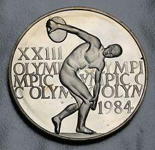 US 1984 XXIII Olympics Los Angeles Medal 38mm Proof