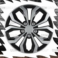 "4 x Spyder Performance Wheel Cover Black Silver Finish ABS Hubcap For 14"" Wheel"