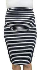 STRIPE STRETCHY PREGNANCY PENCIL SKIRT