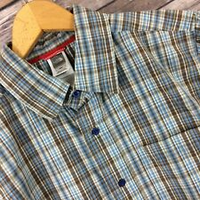 The North Face Multi Color Plaid Button Front Short Sleeve Mens Shirt Medium