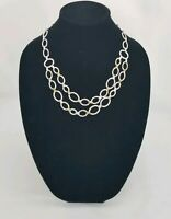 Stella & Dot Marnie Link Necklace Silver tone with Gold accent
