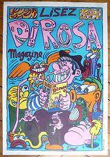 Dirosa Hervé affiche originale sérigraphie 1986 art modeste figuration libre