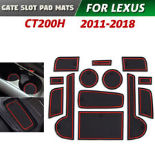 Gate slot pad For Lexus CT200H 2011-2018 Accessories Anti-Slip Mat Coasters Red