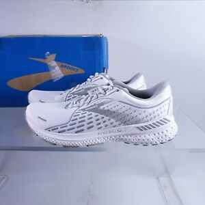 Size 10 Men's / Women's 11.5 Brooks Adrenaline GTS 21 Running Shoes White/Grey