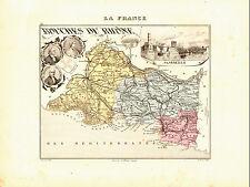 Carte du Département des BOUCHES DU RHONE, vers 1874-Migeon