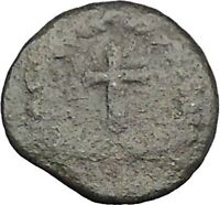 THEODOSIUS II 425AD  Ancient Roman Coin Cross within wreath of success  i32881