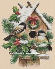 Counted Cross Stitch WINTER BIRDS - COMPLETE KIT No. 2-296