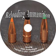 Reloading Ammunition on DVD Reload Ammo Gunsmithing Manuals Guns Books How to