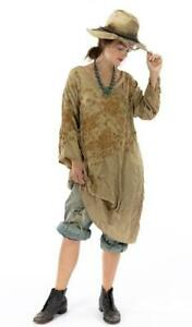 NWT MAGNOLIA PEARL SILK EMBROIDERED PARNASSUS TUNIC IN MARIGOLD GORGEOUS