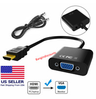 HDMI TO VGA HDMI Male to VGA Female Converter Adapter with Audio 1080P Support