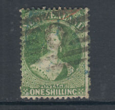 New Zealand Sc 37a, SG 124, used. 1864-72 1sh green QV, fresh, sound, Cert