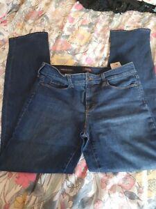 NYDJ not Daughters Jeans Marilyn straight leg denim  size 14 UK lift tuck tech