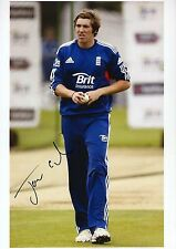 JAMIE OVERTON - Signed 12x8 Photograph - ENGLAND CRICKET