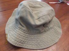 6a52c9e8d3b8c Khaki Green Mens Women Unisex Washed Cotton Foldable Plain Bucket Hat  Reversible