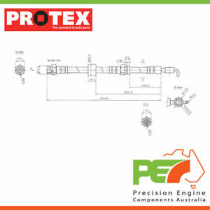 New *PROTEX* Hydraulic Hose - Front For MAZDA 323 BJ 4D Hatchback FWD.